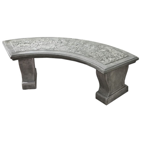 Curved Leaf Garden Bench - Outdoor Art Pros