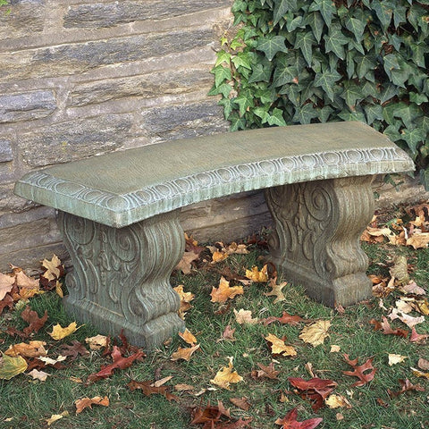 Curved Traditional Garden Bench   Outdoor Art Pros