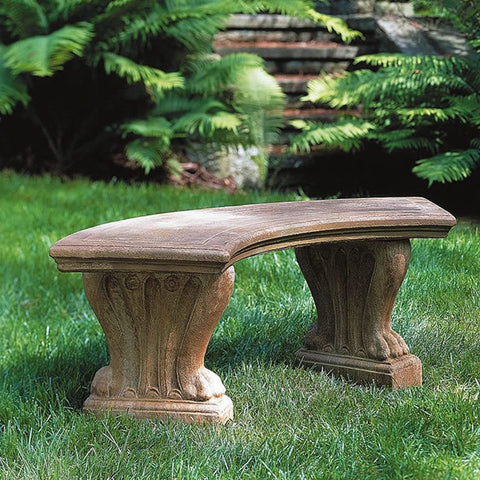 Curved West Chester Garden Bench   Outdoor Art Pros