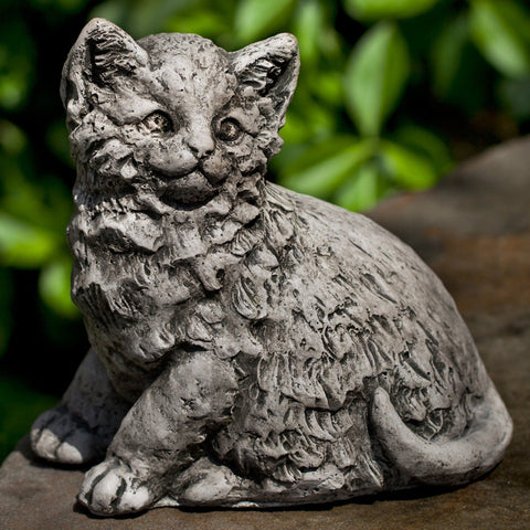 Cutie Kittie Cast Stone Garden Statue - Outdoor Art Pros