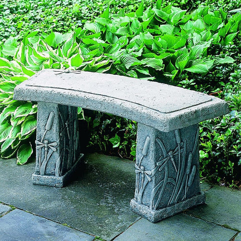Dragonfly Curved Garden Bench - Outdoor Art Pros