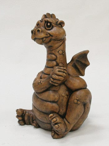 Dragonling Cast Stone Garden Statue - Statuary - Outdoor Art Pros