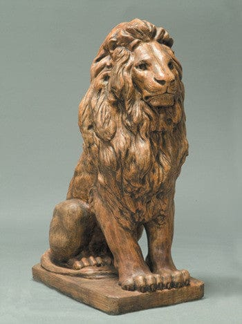 Estate Lion Outdoor Statue - Large - Statuary - Outdoor Art Pros