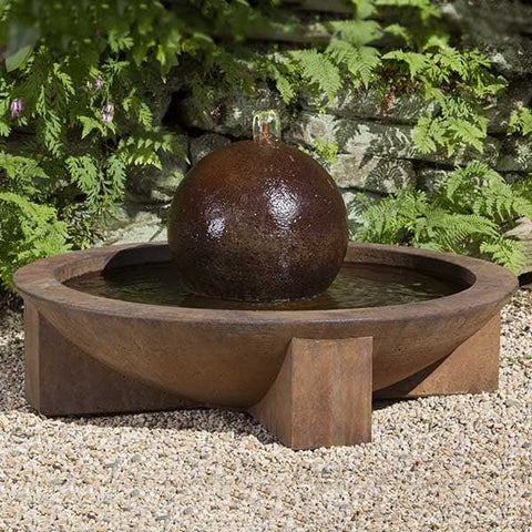 Low Zen Sphere Garden Water Fountain - Outdoor Art Pros