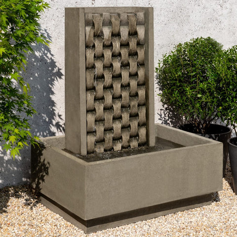 M Weave Garden Fountain - Outdoor Art Pros