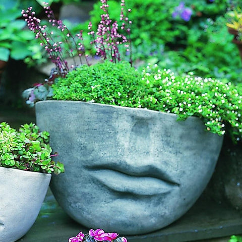 Faccia Contemporary Large Garden Planter - Outdoor Art Pros