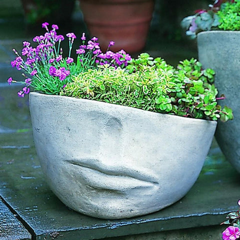 Faccia Contemporary Medium Garden Planter - Outdoor Art Pros