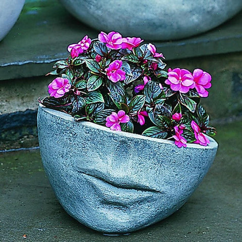 Faccia Contemporary Small Garden Planter - Outdoor Art Pros