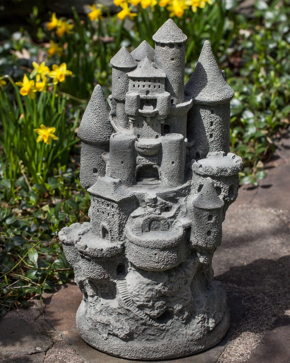 Cast Stone Garden Statues Fairy castle cast stone garden statue workwithnaturefo