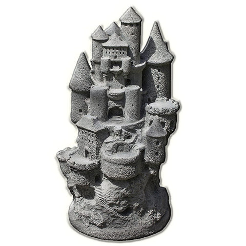 Fairy Castle Cast Stone Garden Statue - Outdoor Art Pros