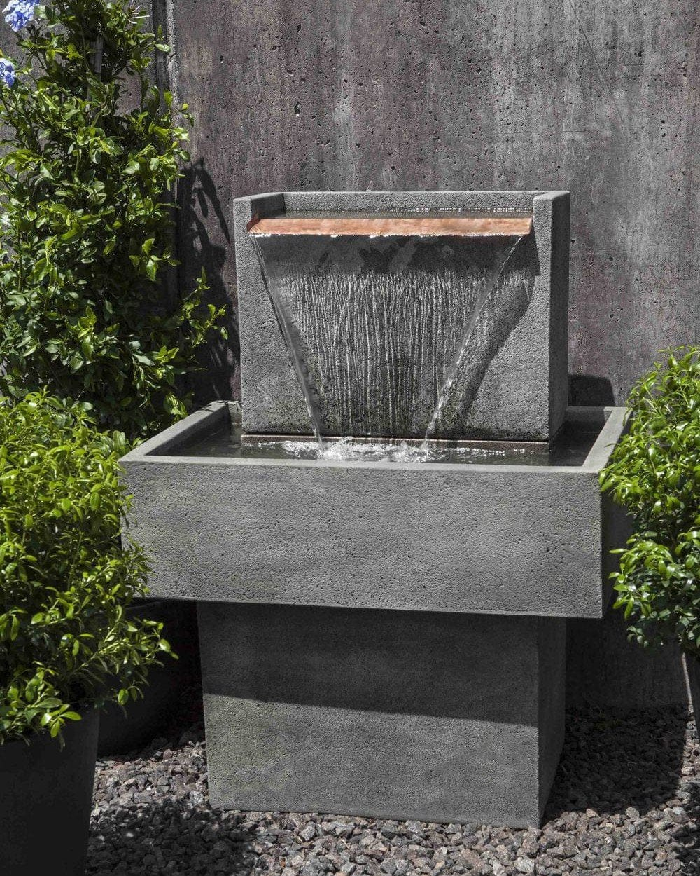 Falling Water I Garden Fountain - Outdoor Art Pros