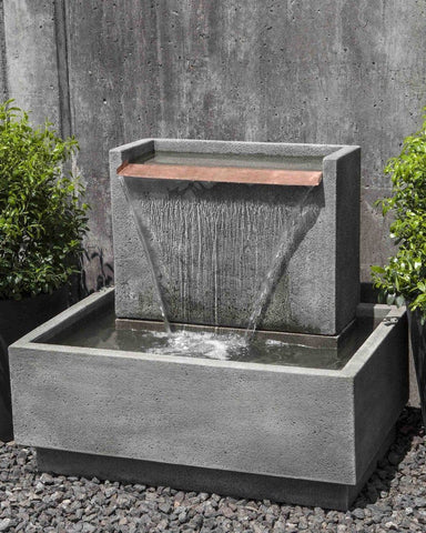 Falling Water II Garden Fountain - Outdoor Art Pros