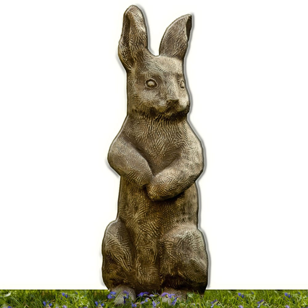 ... Father Rabbit Cast Stone Garden Statue   Outdoor Art Pros ...