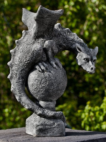 Fiona Winged Dragon Cast Stone Garden Statue - Outdoor Art Pros