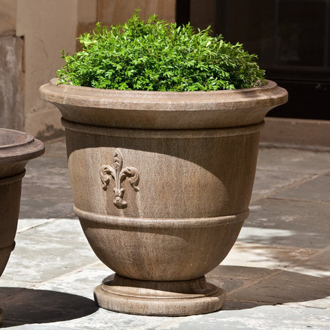 Fleur de Lis Urn Large Garden Planter- Outdoor Art Pros