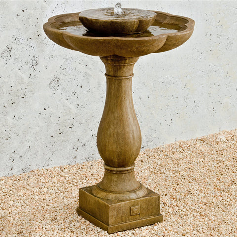 Flores Pedestal Garden Water Fountain