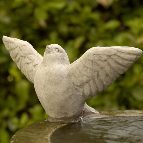 Flutter Cast Stone Garden Statue -Statuary - Outdoor Art Pros (Fountain NOT INCLUDED)