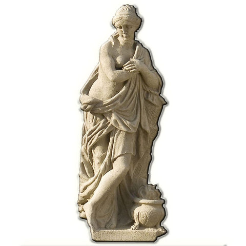 Four Seasons - Winter Cast Stone Garden Statue - Outdoor Art Pros