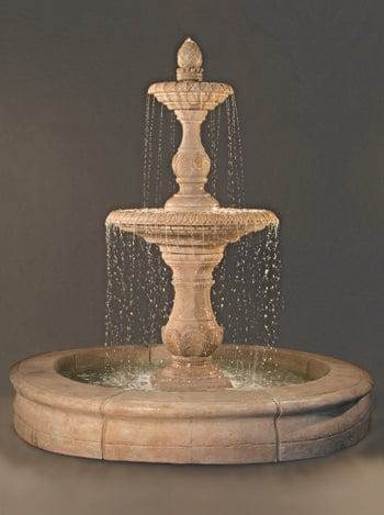 Four Seasons Fountain with Fiore Pond - Outdoor Art Pros