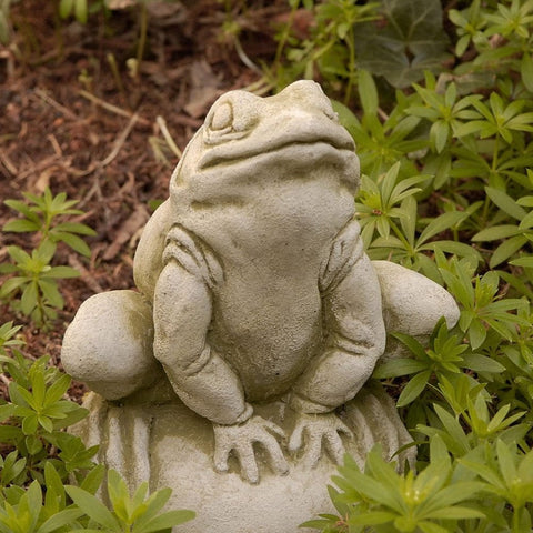 Frankie Frog Cast Stone Garden Statue -Statuary - Outdoor Art Pros