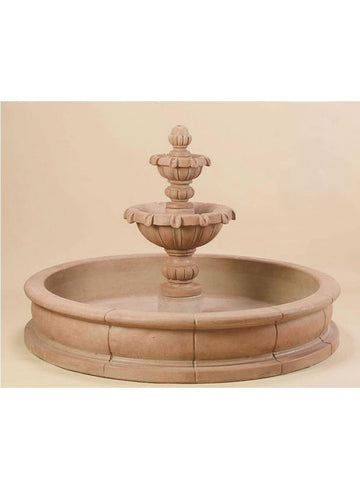 Versailles Garden Two Tier Pond Fountain - Outdoor Arts Pro