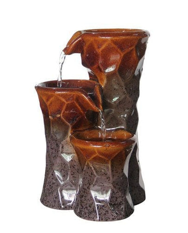 "Alpine 10"" Three Tiered Ceramic Tabletop Fountain"