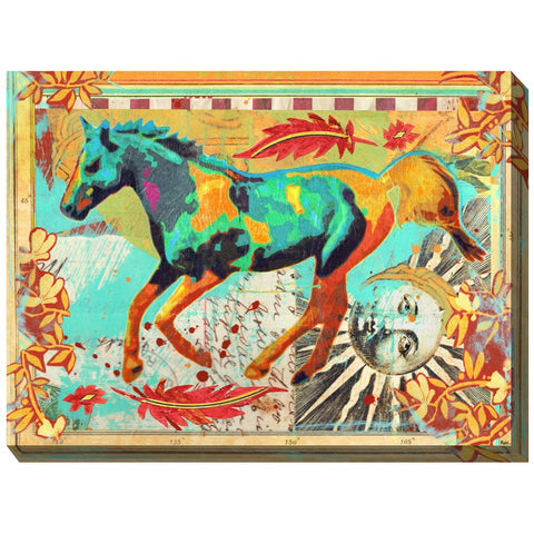 Galloping Horse Outdoor Canvas Art - Outdoor Art Pros