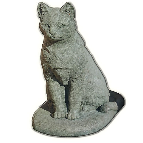 Garden Cat Cast Stone Garden Statue - Outdoor Art Pros