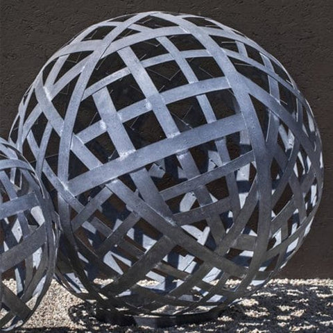 Large Garden Sphere - Zinc - Outdoor Art Pros