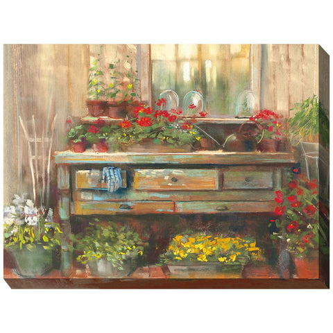 Gardener's Retreat Outdoor Canvas Art - Outdoor Art Pros