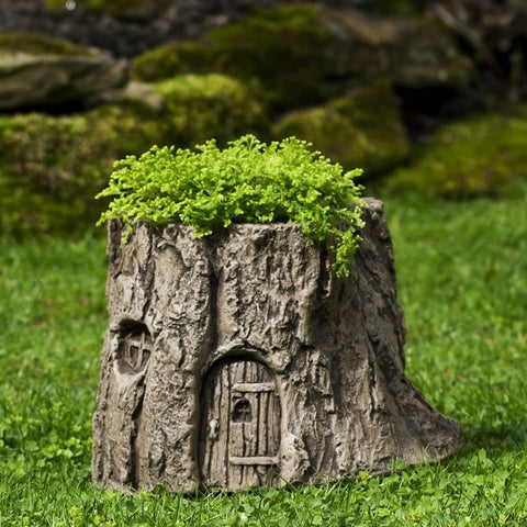 Gnome Home Planter Cast Stone Garden Statue - Outdoor Art Pros