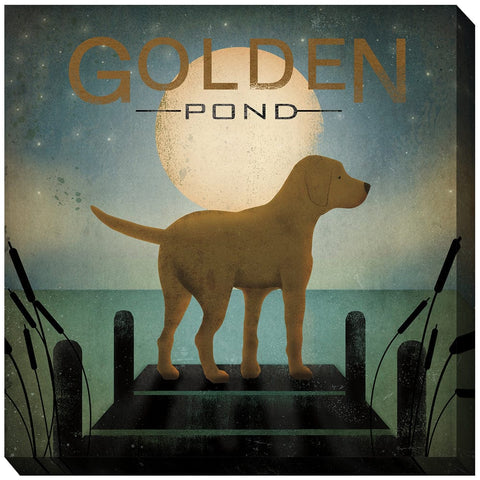 Golden Pond Outdoor Canvas Art - Outdoor Art Pros