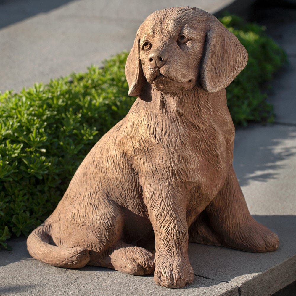 ... Golden Retriever Puppy Cast Stone Garden Statue  Statuary   Outdoor Art  Pros ...
