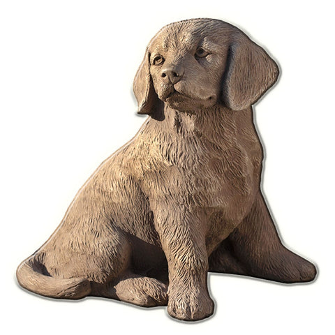 Golden Retriever Puppy Cast Stone Garden Statue -Statuary - Outdoor Art Pros