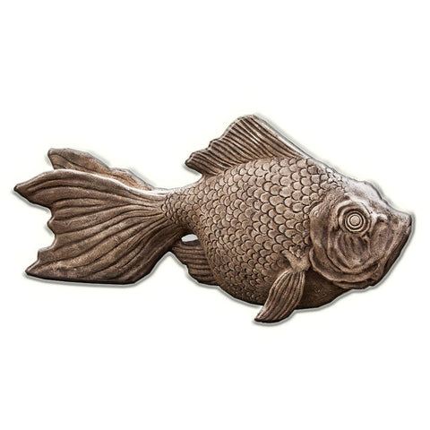 Goldie The Goldfish Cast Stone Garden Statue -Statuary - Outdoor Art Pros