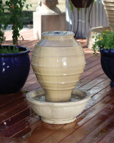 Greek Jar Garden Water Fountain - Fountains - Outdoor Art Pros
