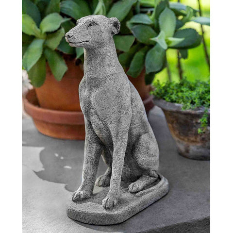 "12"" Greyhound Garden Statue - Outdoor Art Pros"