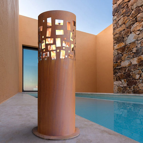 Gustav Commerce Ethanol Fireplace - Outdoor Art Pros