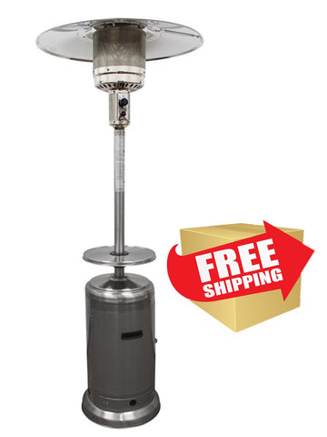 "87"" Tall Stainless Steel Outdoor Patio Heater - Outdoor Art Pros"