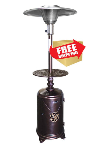 "87"" Hammered Bronze Cast Aluminum Patio Heater - Outdoor Art Pros"
