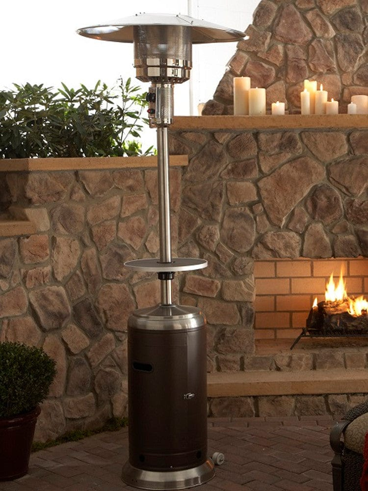 wood burning patio heater 87 Hammered Bronze Stainless Steel Outdoor Patio Heater