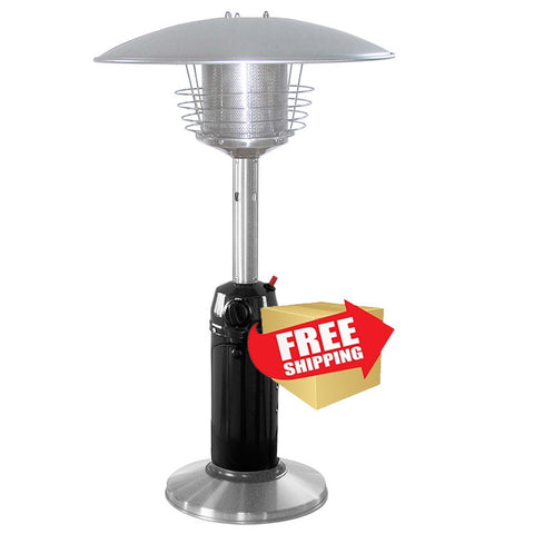 Black and Stainless Steel Tabletop Patio Heater - Outdoor Art Pros