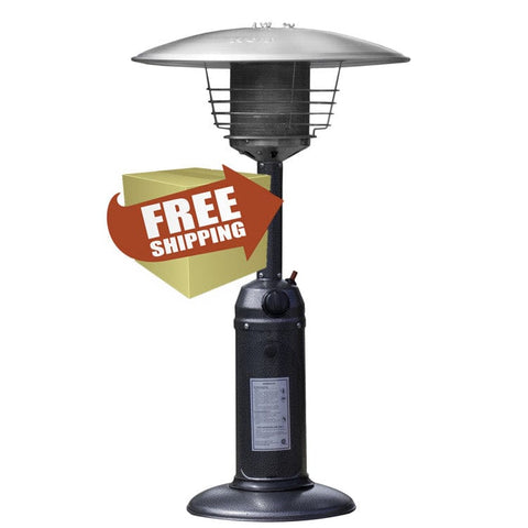 Hammered Silver Tabletop Patio Heater - Outdoor Art Pros