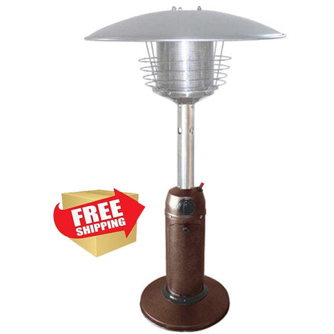 Hammered Bronze and Stainless Steel Tabletop Patio Heater - Outdoor Art Pros