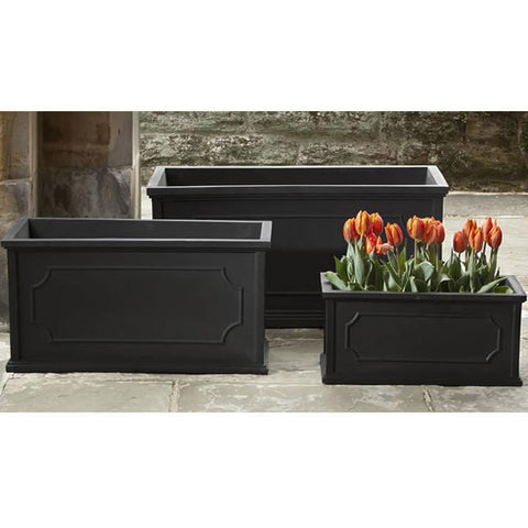 Hampshire Poly Window Box in Black - Outdoor Art Pros