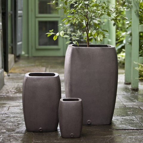 Harrison Chocolate Lite Planter - Set of 3 - Outdoor Art Pros
