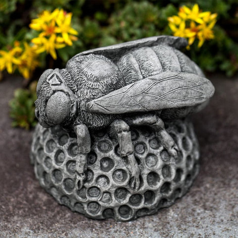 Honey Bee Cast Stone Garden Statue - Outdoor Art Pros
