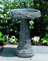 Hummingbird Cast Stone Birdbath - Outdoor Art Pros