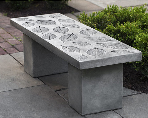 Hydrangea Leaf Garden Bench - Outdoor Art Pros