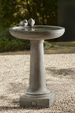 Juliet Cast Stone Birdbath - Outdoor Art Pros